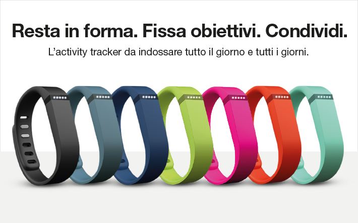 Fitbit Flex ora disponibile in cinque brillanti colori.