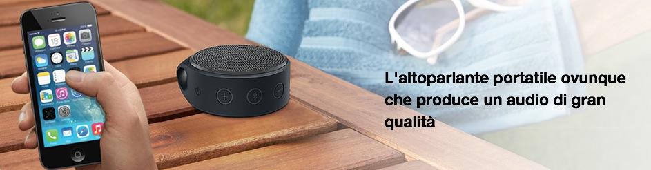 L'altoparlante portatile ovunque che produce un audio di gran qualità