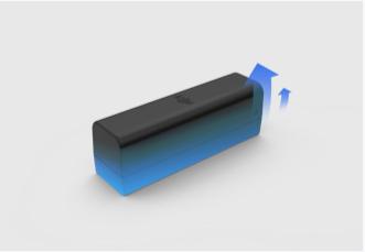 Lunga durata della batteria Fino a 4 ore e mezza, la batteria è sostituibile ed è possibile aggiungere una estensione esterna per avere ancora più durata.