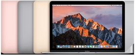 """MacBook Display Retina retroilluminato LED da 12"""" (diagonale) Processore: Intel Core m3 dual-core a 1,1GHz, Intel Core m5 dual‑core a 1,2GHz o Intel Core m7 dual‑core a 1,3GHz Turbo Boost fino a 3,1GHz Fino a 10 ore di autonomia Unità SSD fino a 512GB Trackpad Force Touch 0,92 kg"""