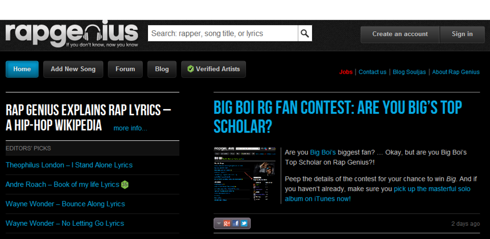 rapgenius home page.PNG