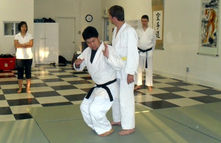 Judo demonstration, August 2012
