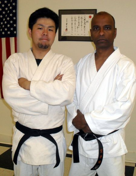 Sensei Nathan with guest Judo instructor, Keitarou Nishi
