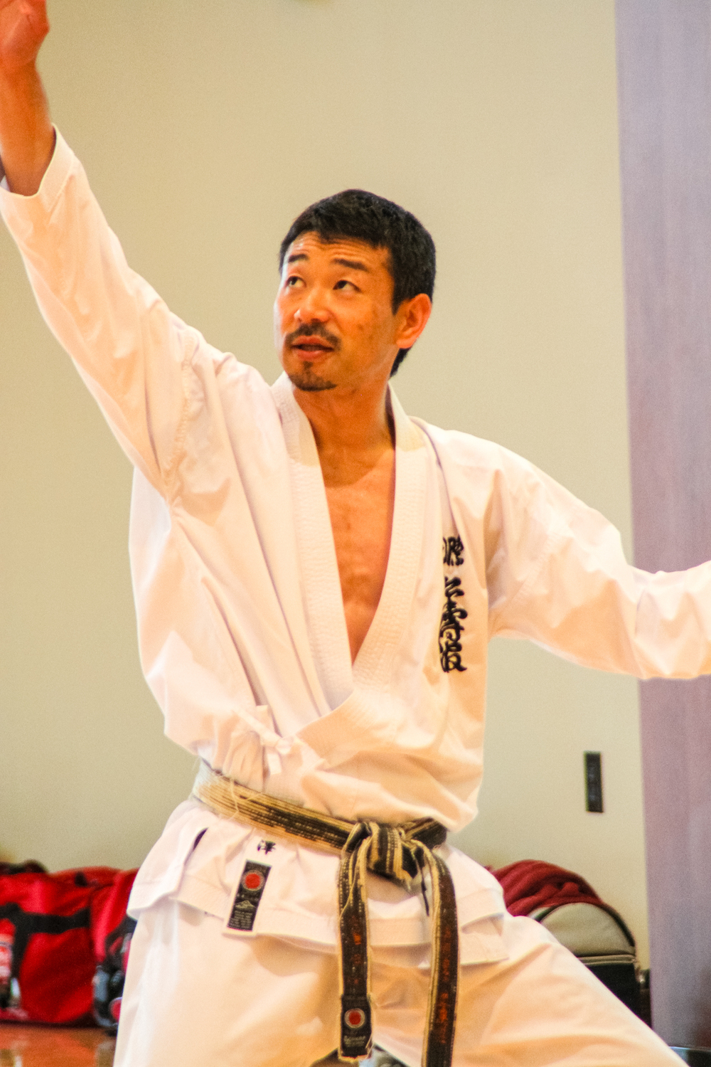 Kancho Nobuaki Kanazawa at the Golden Tiger seminar on 7/2/13.