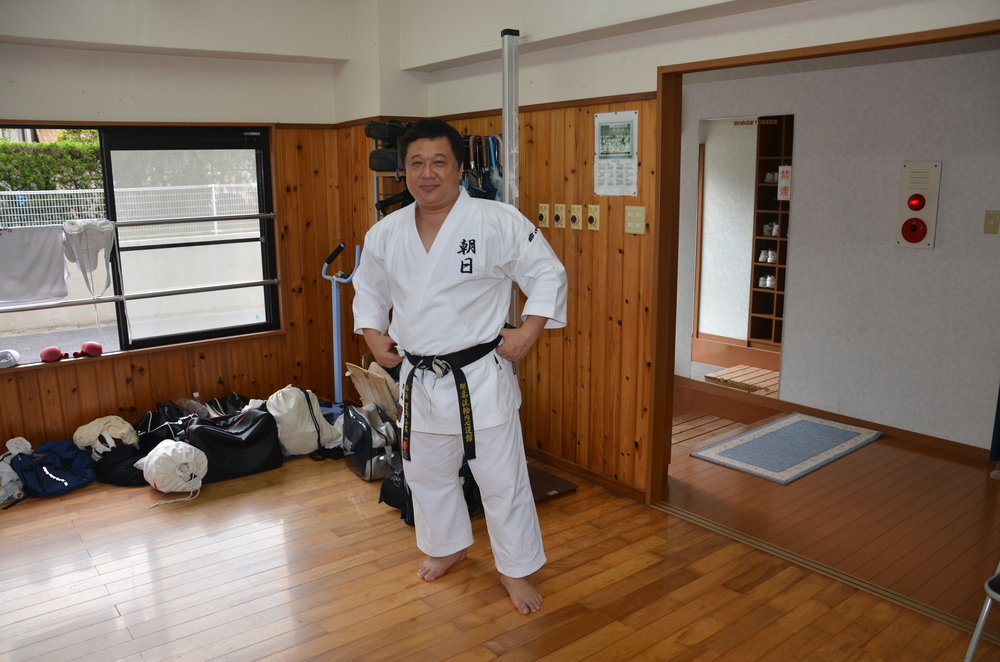 Sensei Satoshima of the Goju-Ryu Wauchishindoukan Karate Dojo in Japan.  July, 2013.