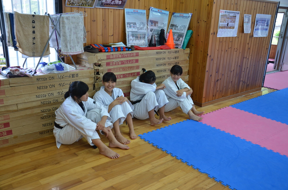 Sensei Nathan visits the Goju-Ryu Wauchishindoukan Karate Dojo in Japan.  July, 2013.