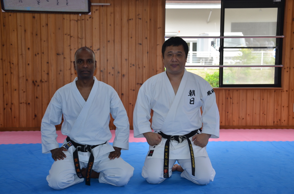Sensei Nathan visits Sensei Satoshima at the Goju-Ryu Wauchishindoukan Karate Dojo in Japan.  July, 2013.