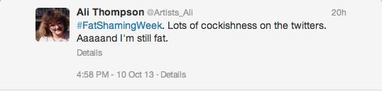 My initial tweet