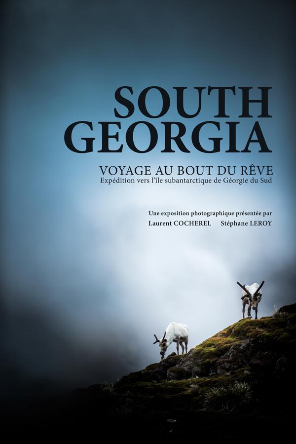 """Affiche exposition  """"South Georgia - voyage au bout du rêve"""""""