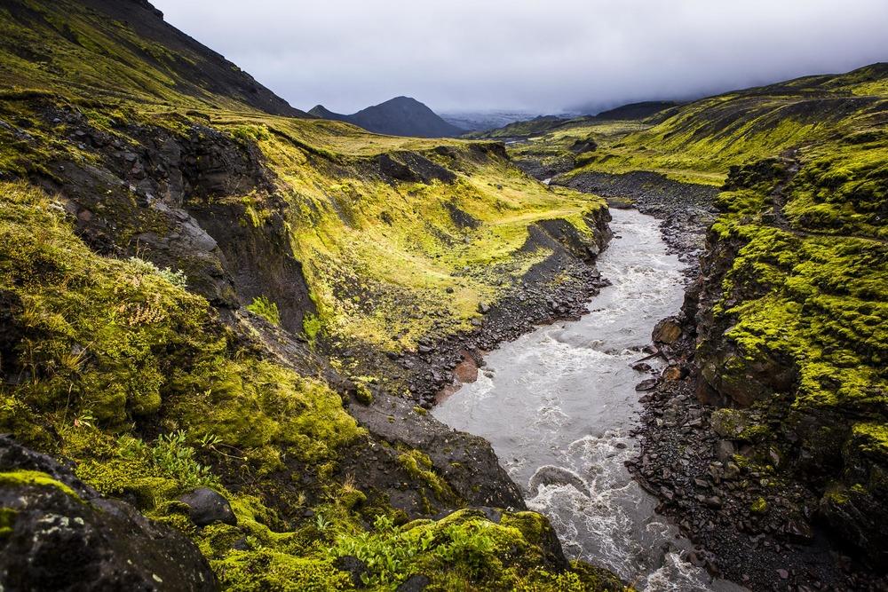 Paysage Þórsmörk, Suðurland -  Islande
