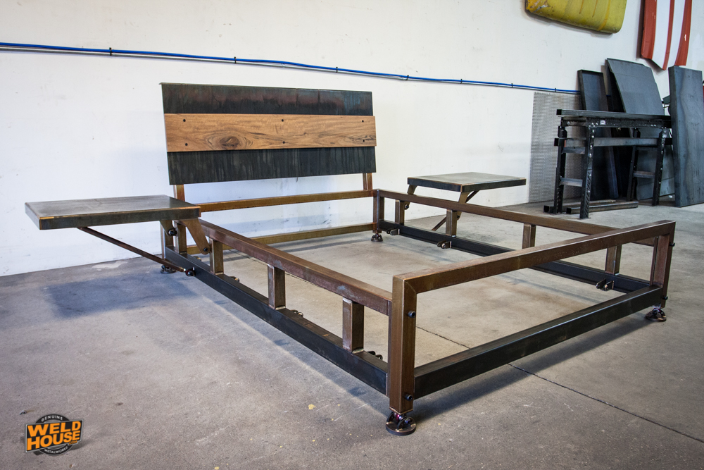 The Lowboy Is A Contemporary Steel Bed Design Weld House Llc