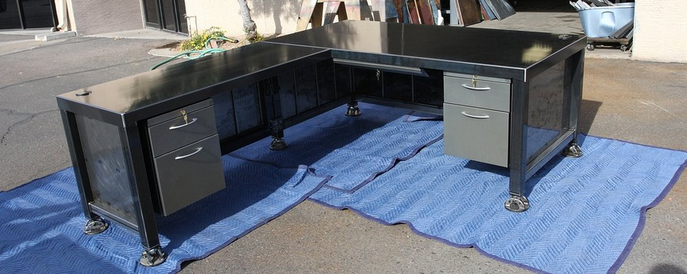 Weld House Tanker Desk w/ return