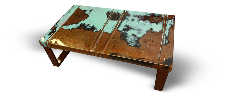 Automotive Sheetmetal Coffee Tables