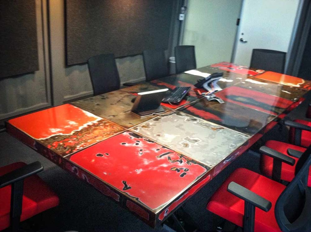 HONDA USA Conference Table Weld House LLC - Red conference table