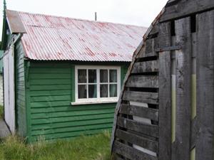 Storage huts in Stanley, Falkland Islands