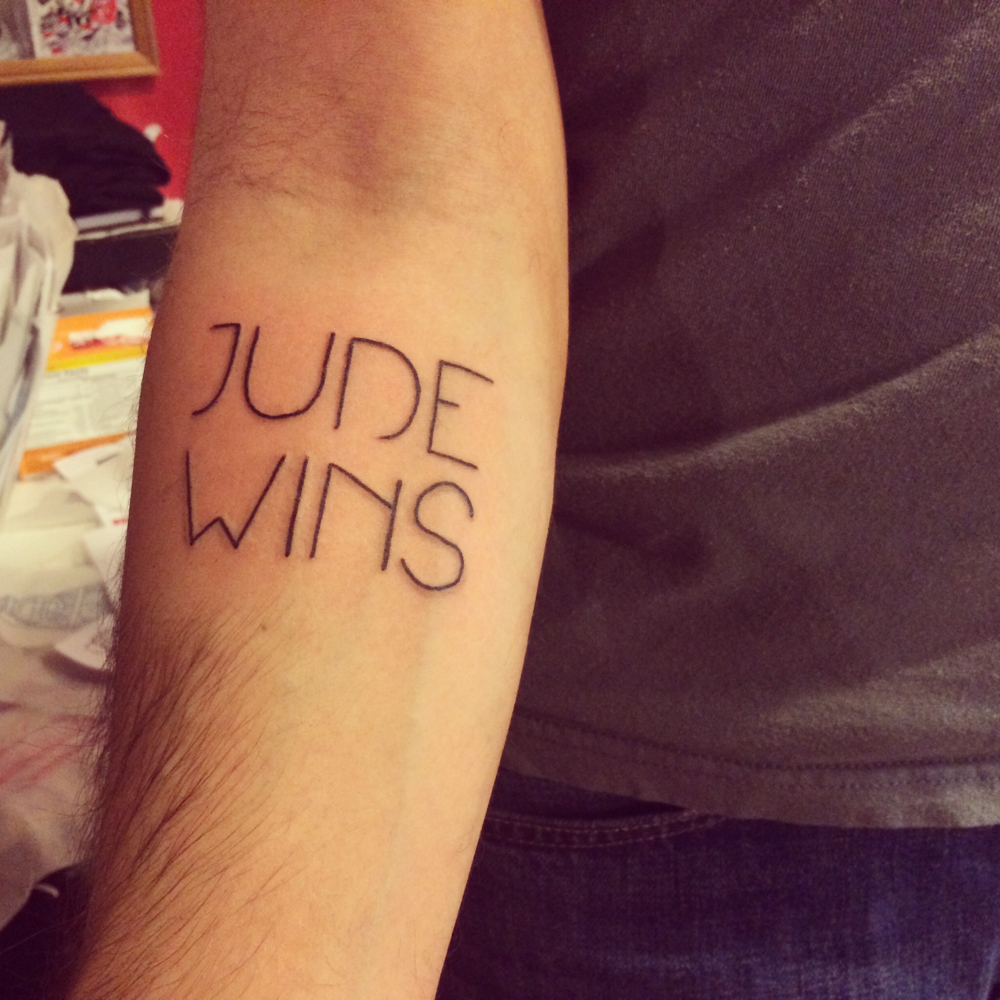 A couple years ago, I got this tattoo so I could have more opportunities to share my story with people.