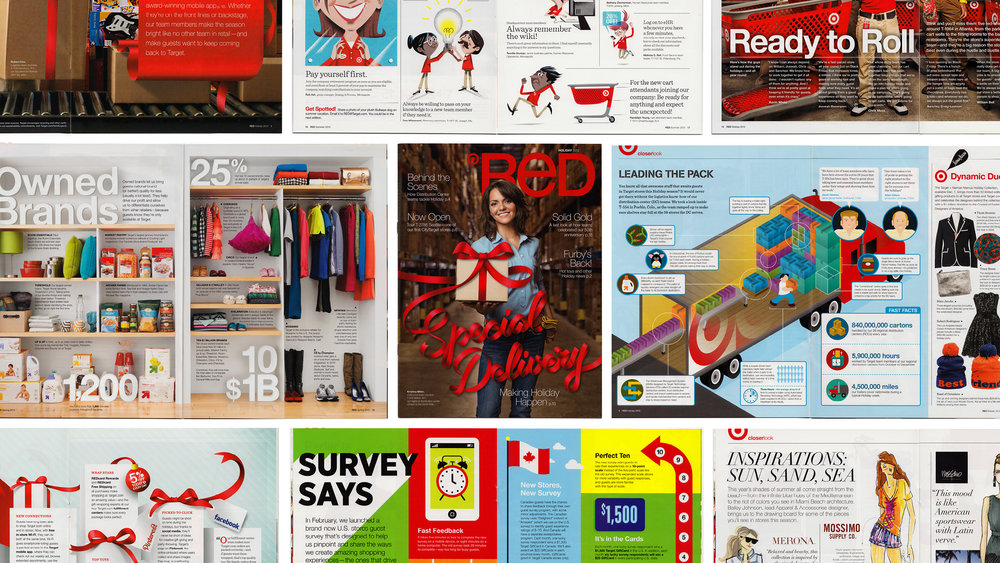 Target RED Magazine Layouts