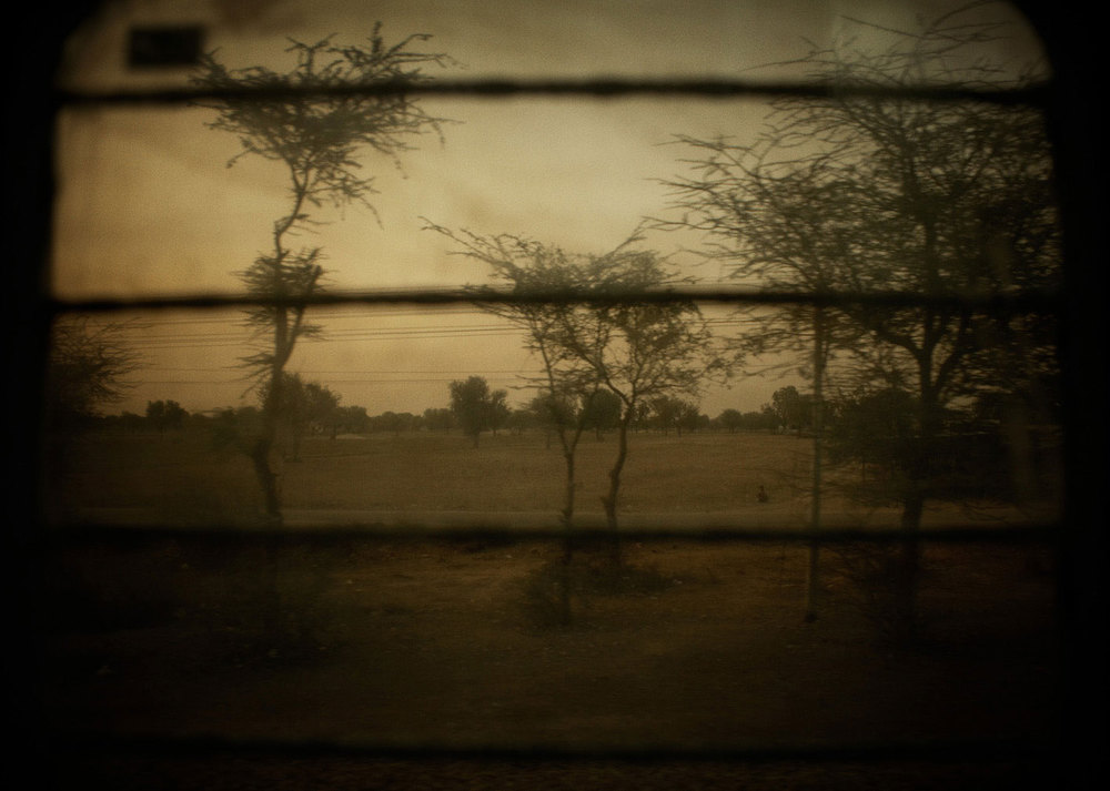 Train window. Rajasthan, India.