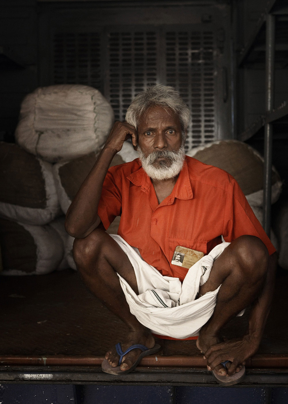 Railway porter. Chennai Central Railway Station.