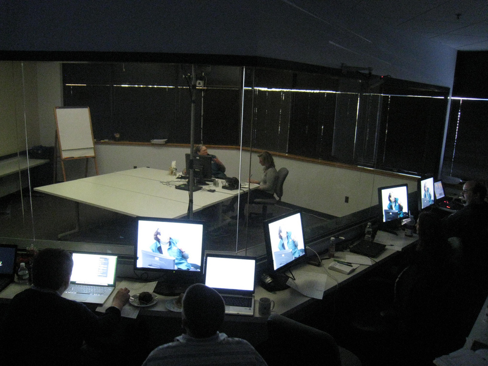 A similar usability lab.  Photo by  Kai Chan Vong .
