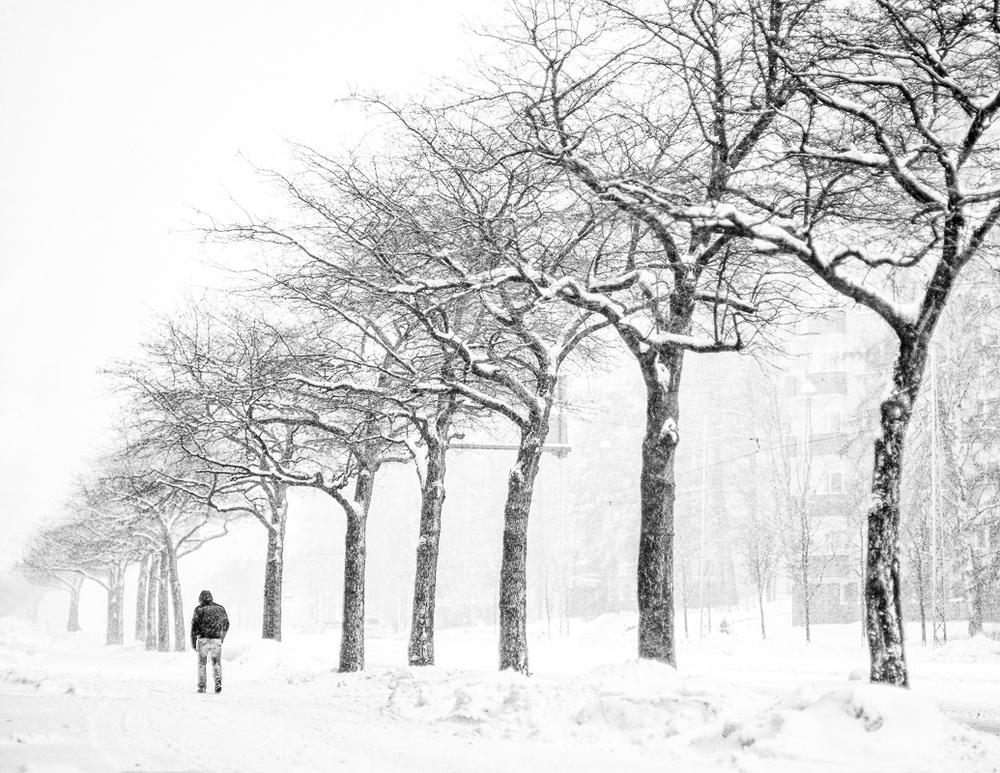 Blizzard in Helsinki