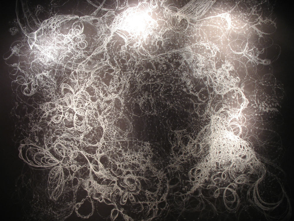 A photo of a drawing from Sara Schneckloth's exhibit.