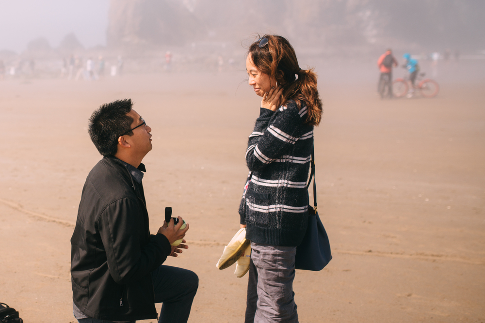 seattle engagement proposal cannon beach seaside oregon wedding photography arbr pictures