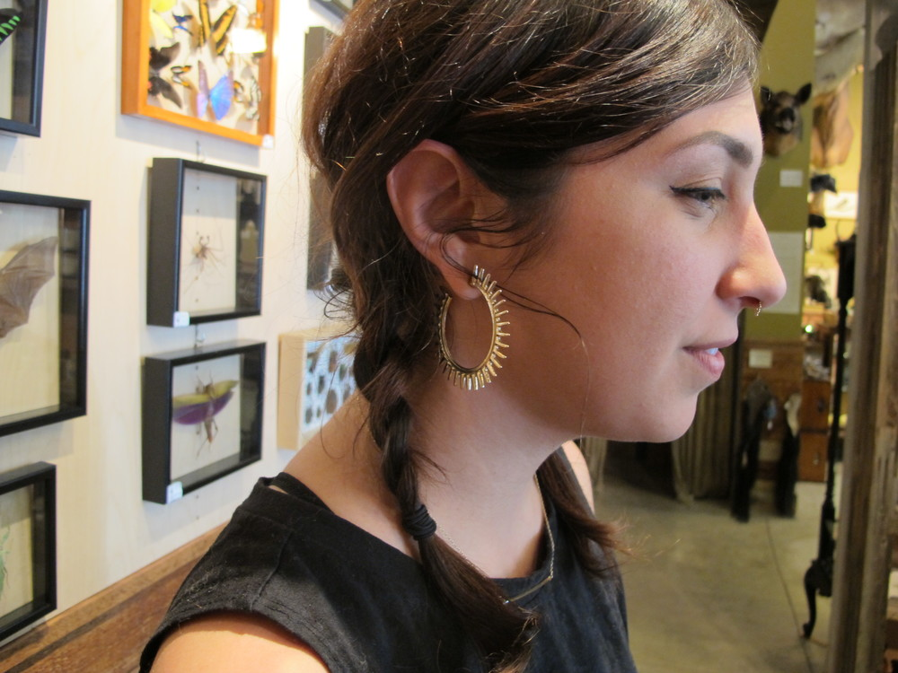Mika is a dear Backtalk homie. You can find her most days working at Paxton Gate, a true Mississippi treasure a few blocks North. We're in love with Mika's elegance in all black, which she balances with some quirky braids and golden details.