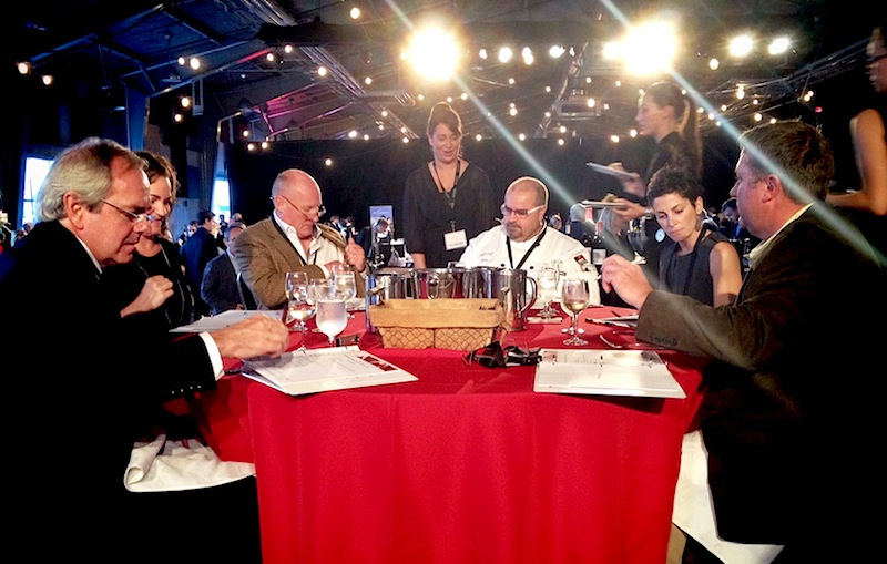 Me and my fellow judges hard at work.