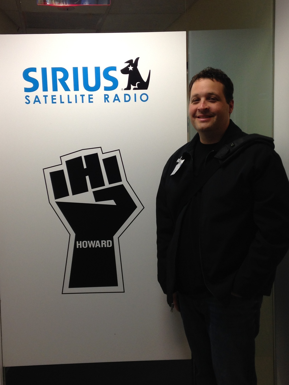 The door to Howard's compound, I wasn't allowed in but if the rest of the Sirius studio is any indication... it must be amazing!