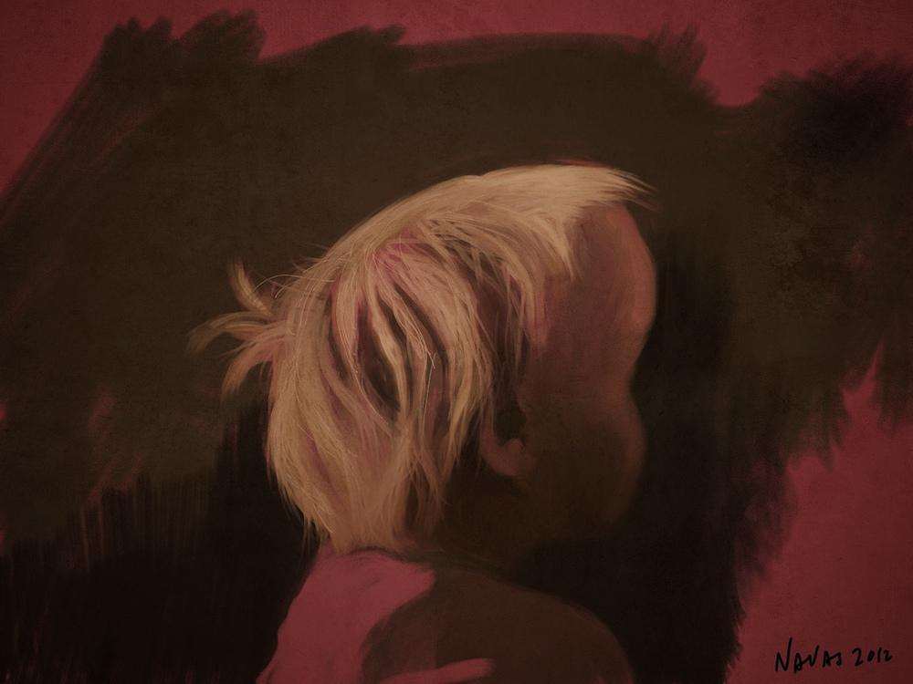 P  au dandome la espalda    iPad painting - Procreate (2012)