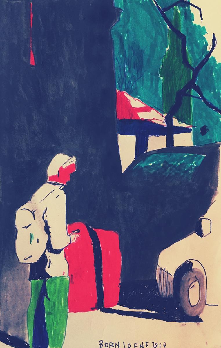 """""""El Born"""" (Barcelona). Sketch from notebook"""