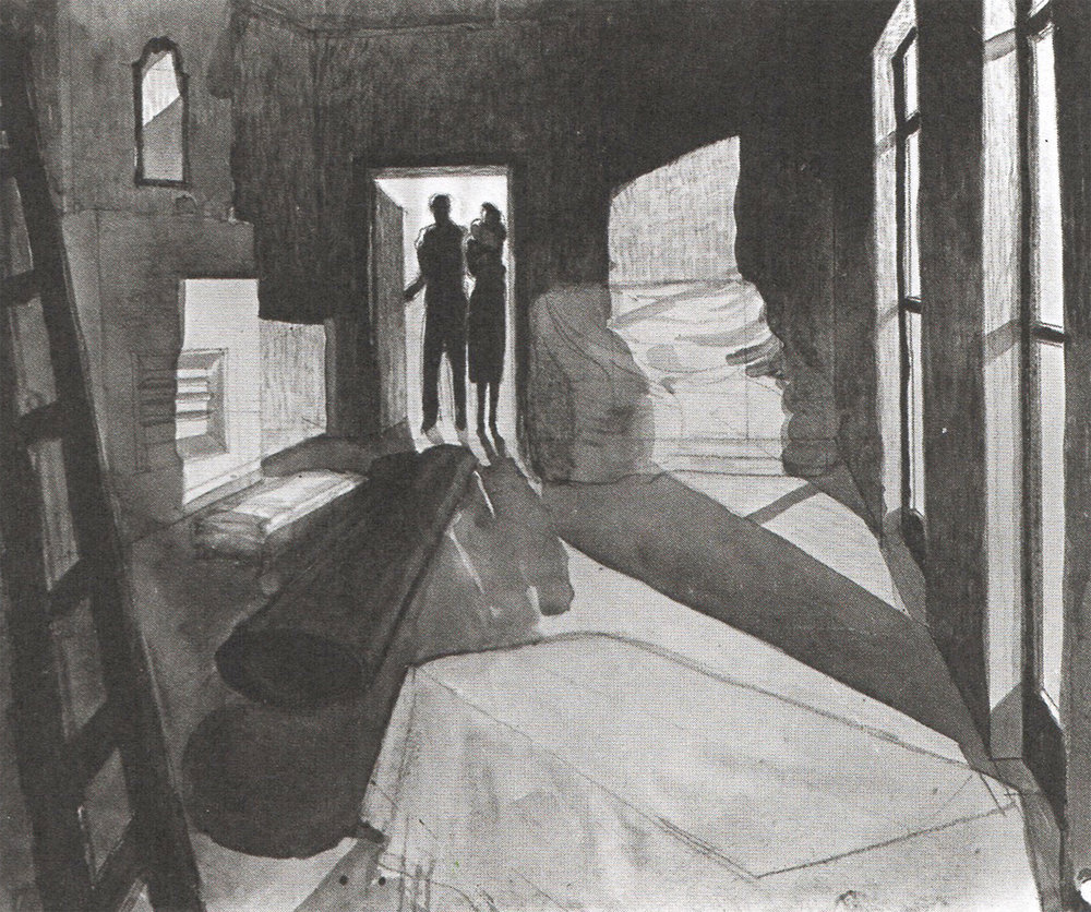 "Some of the few preparatory drawings for ""The 39 Steps"" (1935)"