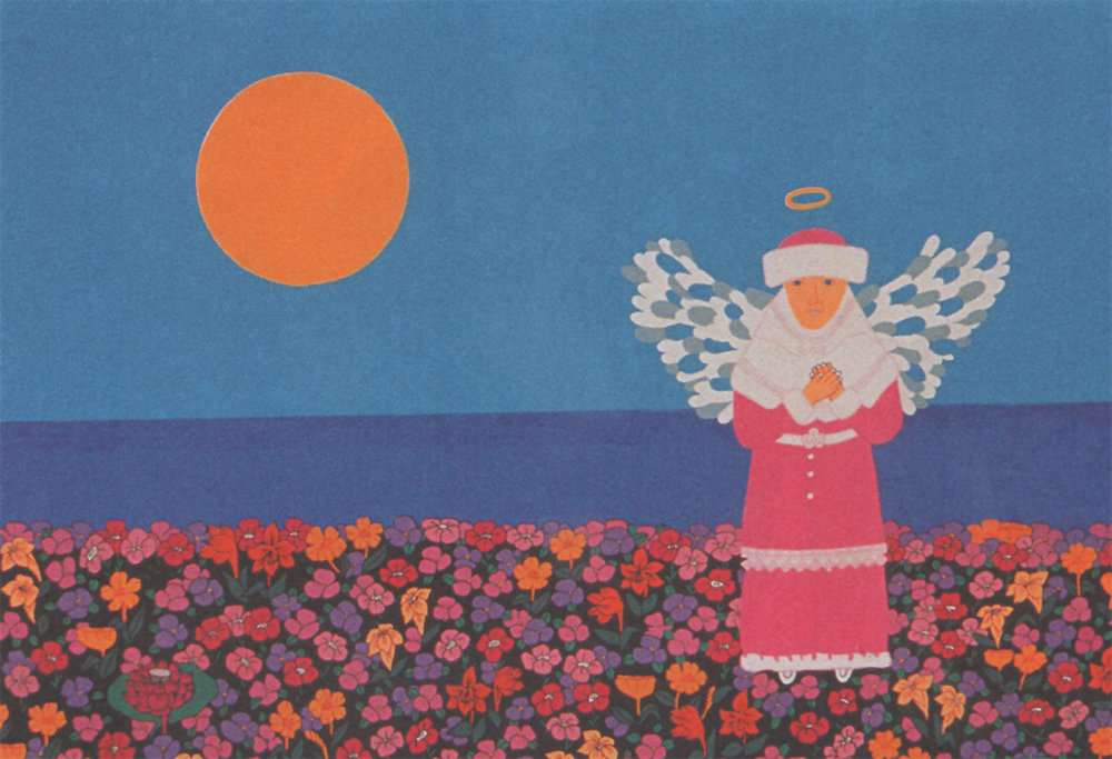 "A cartoon angel which appeared in Kitano's 1999 film ""Kikujiro""."