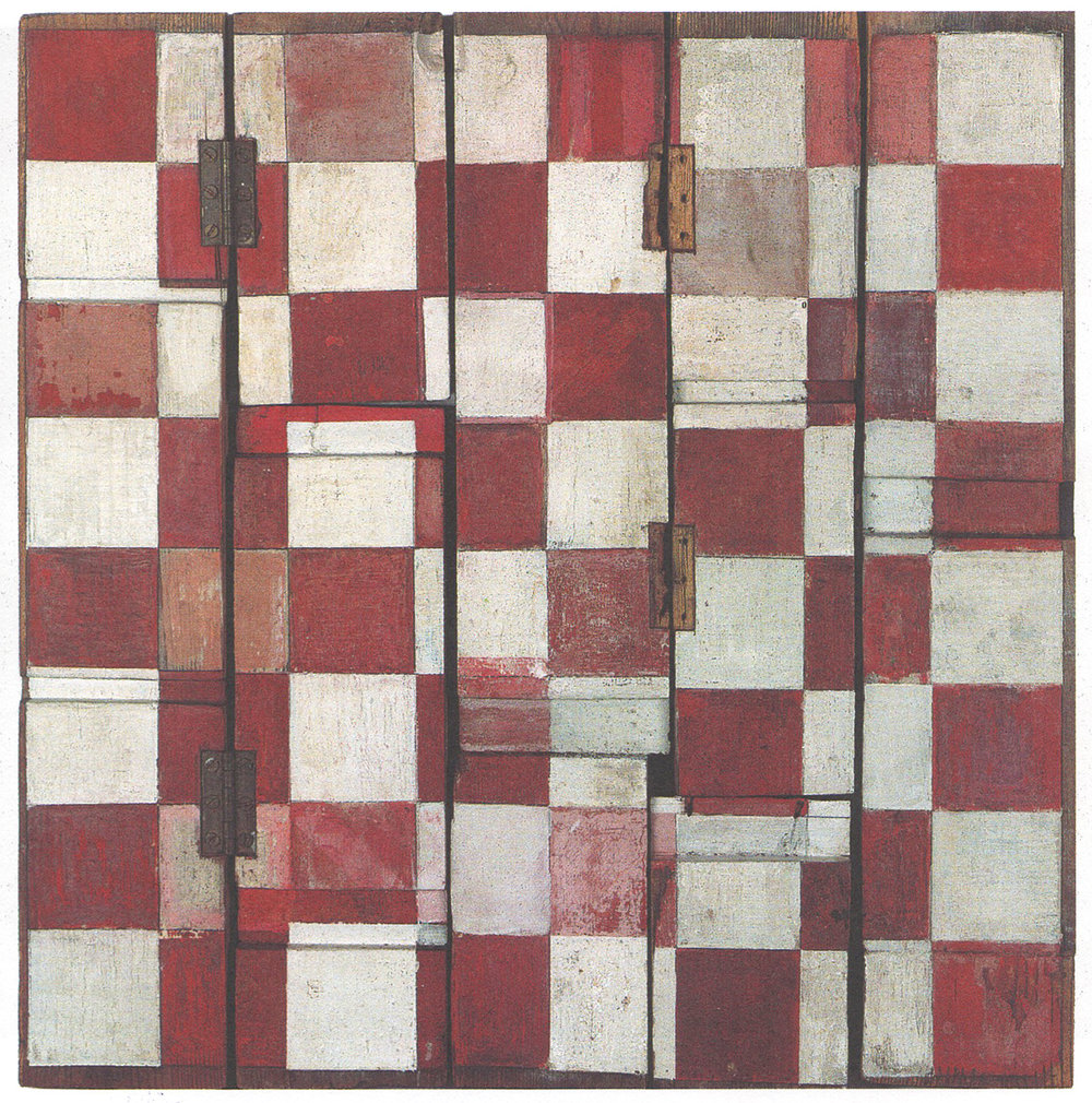 'Gaming Board', 1968 (oil on wood)