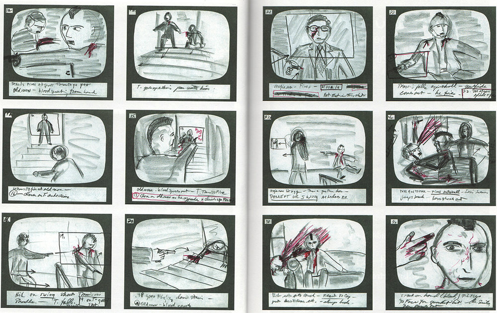 Storyboards for one of the fight sequences in 'Raging Bull' (1980)