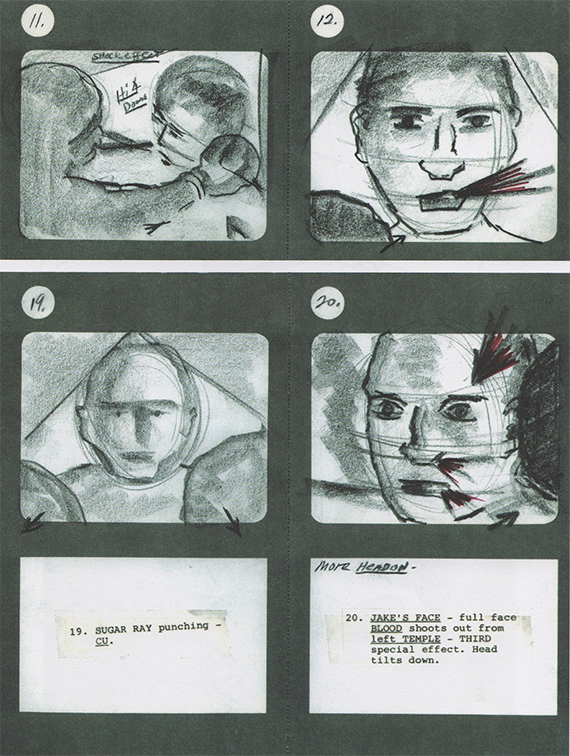 Some of Scorsese's storyboards for 'Taxi Driver' (1976)