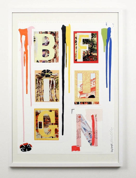 "Trey Speegle, Big Fun, 2013, 18 x 23"", mixed media collage on paper"