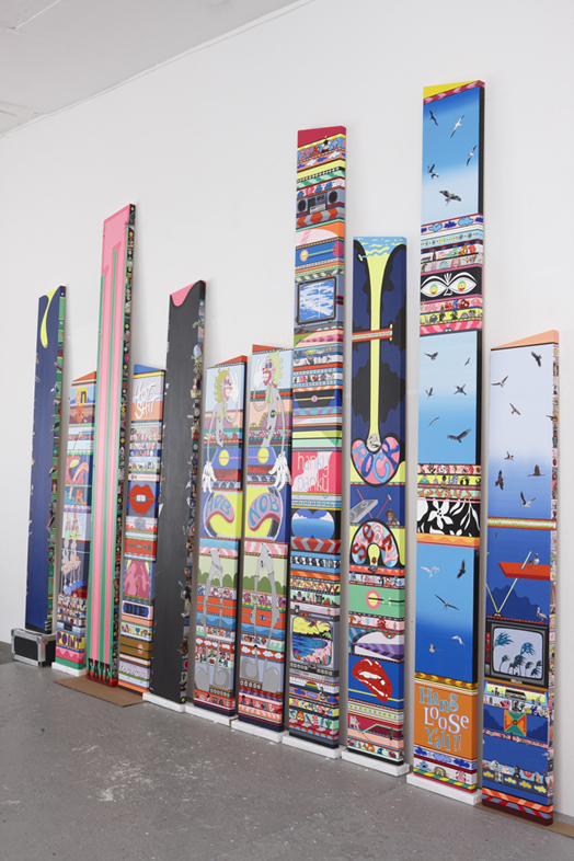 Erik Parker, New Magnetic Destiny, 2013 Installation view
