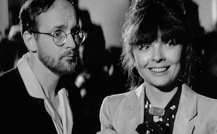 Michael with Diane Keaton (they share a birthday) in Woody Allen's   Manhattan