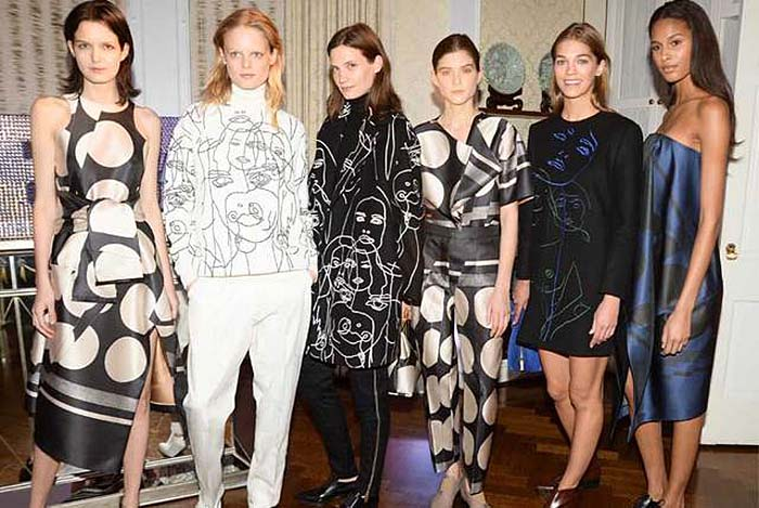 Stella McCartney's Pre-Fall 2014 with artist Gary Hume's drawings