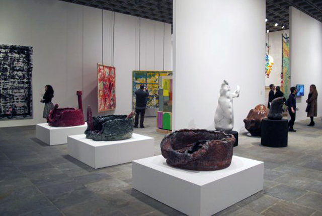 The Whitney Biennial 2014 (Sterling Ruby ceramics in the foreground)