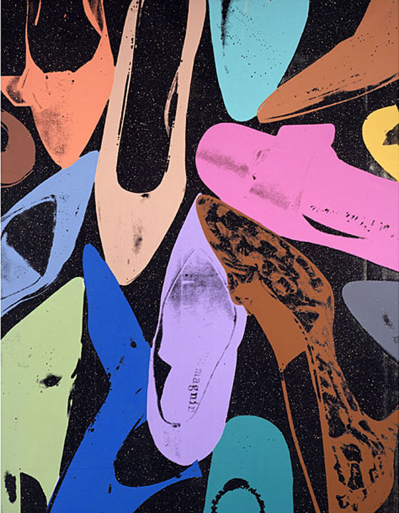 Andy Warhol, Diamond Dust Shoes, used for Halston advertising, 1980