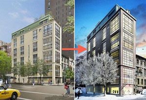 Revised exterior plans for 61 Fifth