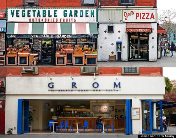 A grocery store and mediocre pizza joint once stood at Bleecker Street, replaced by Grom, which has THE best gelato in New York, btw