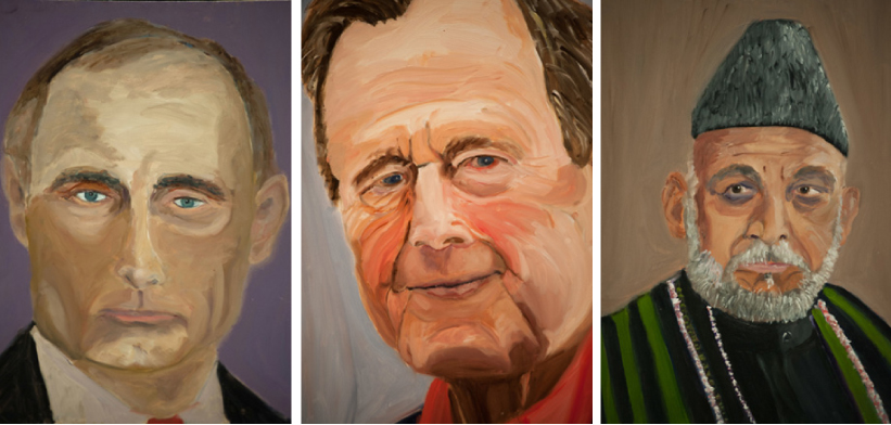 Putin, Daddy Bush, Hamid Karzai