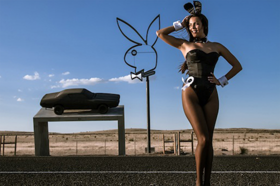 Phillips installation, which was commissioned by Playboy's Neville Wakefield, was ordered removed by the Texas Highway department as it was deemed to be advertising, will be on view outside Dallas Contemporary for the run of the exhibit.