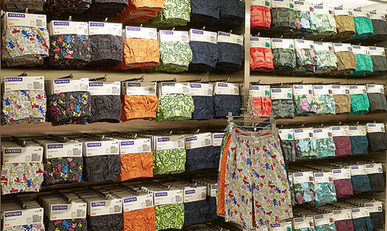 Haring boxers at Uniqlo Fifth Avenue, New York
