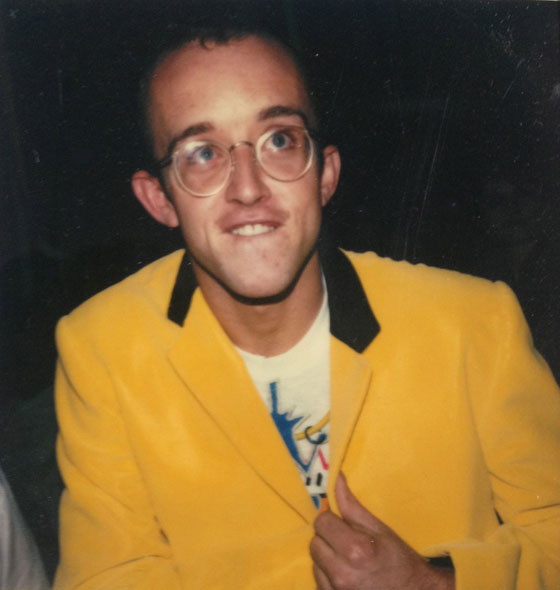 Keith Haring in a Stephen Sprouse suit, 1984. Polaroid by Trey Speegle
