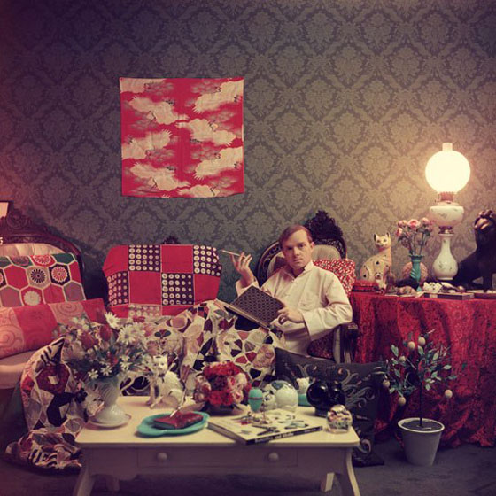 Truman Capote in His Brooklyn Heights Apartment, 1958